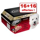 Barquettes Cesar Slow Cooked 16 x 150 g + 16 barquettes offertes !