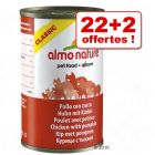 Boîtes Almo Nature Classic 22 x 140 g + 2 offertes !