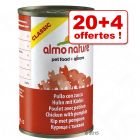 Boîtes Almo Nature Classic 20 x 140 g + 4 offertes !