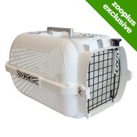 Catit Voyageur White Tiger Pet Carrier - White