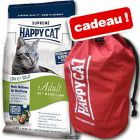 Croquettes Happy Cat Supreme 4 kg + sac à dos offert !