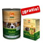 Defu Bio 50% Sensitive 6 x 400 g + snacks Defu ¡gratis!