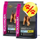 Dubbelpack Eukanuba Adult Large Breed Chicken