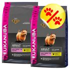 Dubbelpack Eukanuba Adult Small Breed Chicken