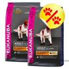 Dubbelpack Eukanuba Adult Small & Medium Breed Lamb & Rice