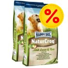 Dubbelpack Happy Dog NaturCroq Lamm & ris