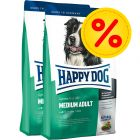 Dubbelpack Happy Dog Supreme Fit & Well Adult Medium
