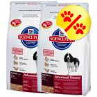 Dubbelpack Hill's Canine Advanced Fitness Lamb with Rice