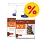 Dubbelpack Hill's Prescription Diet Feline k/d