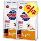 Dubbelpack Hill's Science Plan Canine Adult Light Large