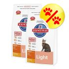 Dubbelpack: Hill´s Science Plan Feline Adult Light Chicken