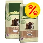 Dubbelpack James Wellbeloved Puppy Turkey & Rice