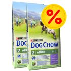 Dubbelpack Purina Dog Chow Adult Lamb & Rice