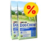 Dubbelpack Purina Dog Chow Large Breed Turkey
