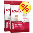 Dubbelpack Royal Canin Medium Junior