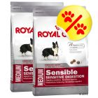 Dubbelpack Royal Canin Medium Sensible