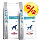Dubbelpack Royal Canin Veterinary Diet Hypoallergenic DR 21