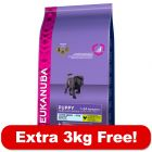 Eukanuba Dry Dog Food - 15kg + 3kg Free!*