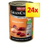 Fai scorta! Animonda GranCarno Sensitive  24 x 400 g