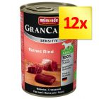 Fai scorta! Animonda GranCarno Sensitive 12 x 400 g