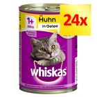 Fai scorta! Whiskas 1+ lattine 24 x 400 g