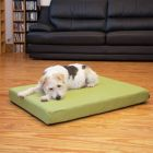 Faux-Linen Dog Mattress – Green