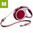 flexi Vario Cord Lead Medium - Red 8m