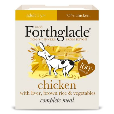 Forthglade Complete Meal Adult Dog - Chicken with Liver