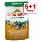 55g Almo Nature Green Label Fillets in Pouches 5 + 1 Free!