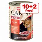 400g Animonda Carny Adult Wet Cat Food - 10 + 2 Free!*