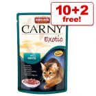 85g Animonda Carny Exotic Wet Cat Food Pouches - 10 + 2 Free!*