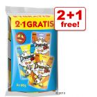 60 g Dreamies Cat Snacks, 2 + 1 Free!
