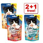 60g Felix Goody Bag Treats 2 + 1 Free!
