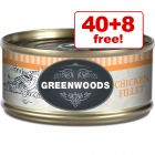 70g Greenwoods Adult Wet Cat Food - 40 + 8 Free!*
