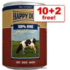 400g Happy Dog Pure, 10 + 2 Free!