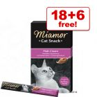 15g Miamor Cat Cream Snacks - 18 + 6 Free!*