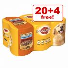 400g Pedigree Adult Cans - 20 + 4 Free!*