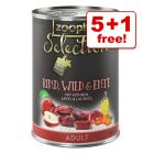 400g zooplus Selection Wet Dog Food - 5 + 1 Free!*