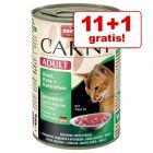 11 + 1 gratis! Animonda Carny Adult, 12 x 400 g