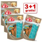 3+1 gratis! 8in1 Fillets Pro hondensnacks 4 x 80 g