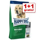 1 + 1 gratis! 2 kg Happy Dog Fit & Well-Linie