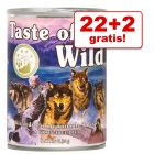 22 + 2 gratis! Taste of the Wild 24 x 374 g
