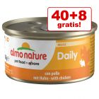 40 + 8 gratis! 48 x 85 g Almo Nature Daily Menu