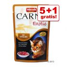 5 + 1 gratis! 6 x 85 g Animonda Carny Exotic