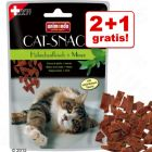 2 + 1 gratis! 3 x 50 g Animonda Cat Snack