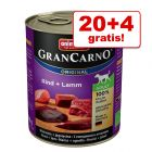 20 + 4 gratis! 24 x 800 g Animonda GranCarno Original Adult