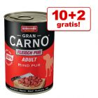 10 + 2 gratis! 12 x 400 g Animonda Mix