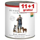 11 + 1 gratis! 12 x 820 g Defu Bio Sensitive