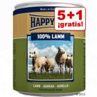 5 + 1 ¡gratis! 6 x 800 g Happy Dog Pur