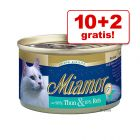 10 + 2  gratis! 12 x 100 g Miamor Feine Filets